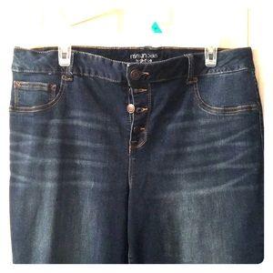 Maurice's high rise 16 long skinny jean.